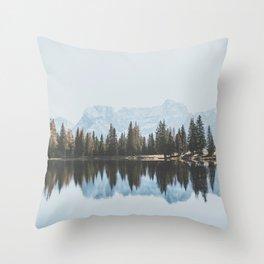 Italian Dolomites (landscape version) Throw Pillow