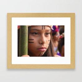 Originating people Framed Art Print