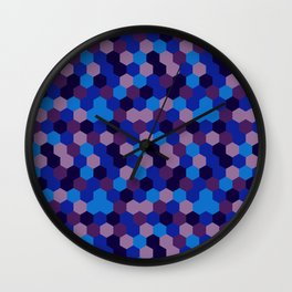 Hexagonal geometric pattern Wall Clock