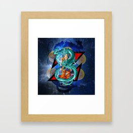 Dragon Ball Super Goku Super Saiyan Blue Framed Art Print