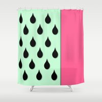 watermelon Shower Curtains featuring Watermelon by Sweet Colors Gallery
