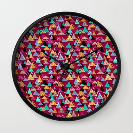 Wild Spirit Mountains Wall Clock