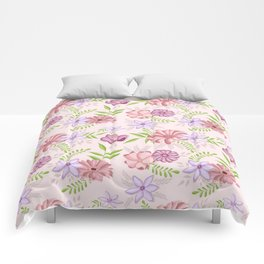 Flowers dancing around Comforters