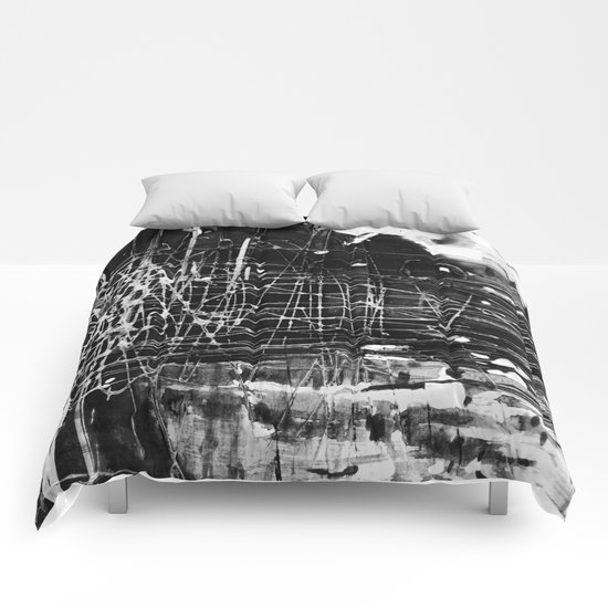 Gray morning Comforters