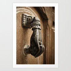 Door Knocker: Valencia, Spain Art Print