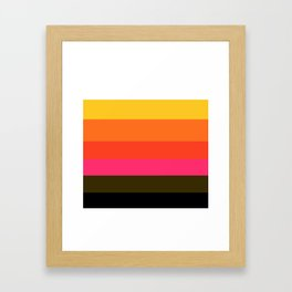 Earth and Summer Sky - Color Strips - Colors of Travel Framed Art Print