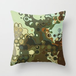 RETRO Mid Century Modern Abstract Pattern Geometric Art by Michel Keck Throw Pillow