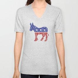Democrat Donkey Vintage Unisex V-Neck