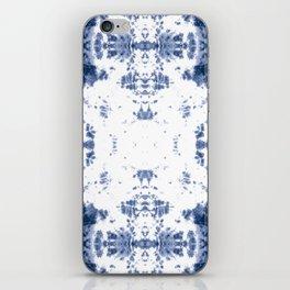 Shibori Tie Dye 5 Indigo Blue iPhone Skin