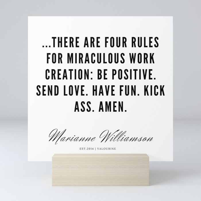 39   Marianne Williamson Quotes   190812 Mini Art Print by quotesandsayings    Society6