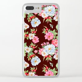 Vintage Floral Pattern No. 5 Clear iPhone Case