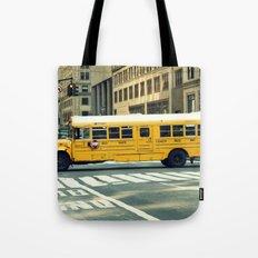 New York school bus Tote Bag