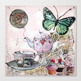 TEA TIME - madewithunicorndust by Natasha Dahdaleh Canvas Print