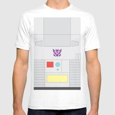 Megatron Minimalist White Mens Fitted Tee MEDIUM
