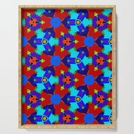 Red and Blue Vector Art 1 Serving Tray