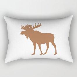 Moose: Brown Rectangular Pillow