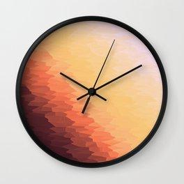 Peach Ombre Wall Clock