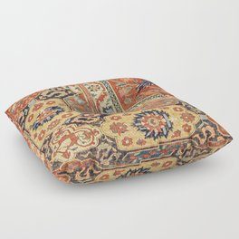 Indian Trellis II // 17th Century Ornate Medallion Red Blue Green Flowers Leaf Colorful Rug Pattern Floor Pillow