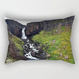 Fardagafoss, Egilsstadir, East Region, Iceland (1) Rectangular Pillow
