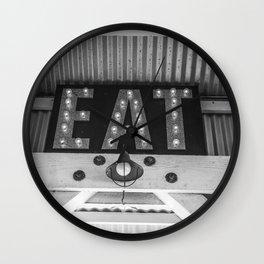 Eat Cayucos Wall Clock