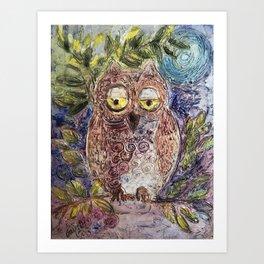 Owl art Art Print