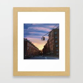 Chelsea Sunset, print of original oil painting Framed Art Print