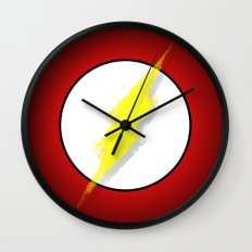 Superhero abstract logo Wall Clock