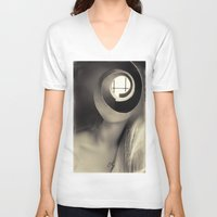 window V-neck T-shirts featuring Window by Cash Mattock