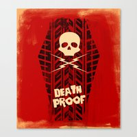 movie posters Canvas Prints featuring Death Proof - Movie Posters by Joel Amat Güell