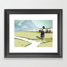 somewhere Framed Art Print