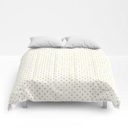 Small Gold Watercolor Polka Dot Pattern Comforters