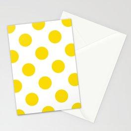 Geometric Orbital Spot Circles In Bright Summer Sun Shine Yellow on White Stationery Cards