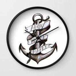 Ahoy there Matey Anchor Wall Clock