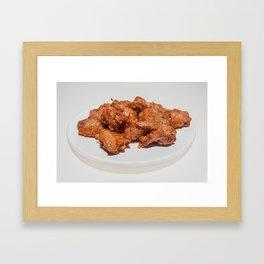 fried chicken wings Framed Art Print
