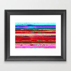 dubstep substitution Framed Art Print