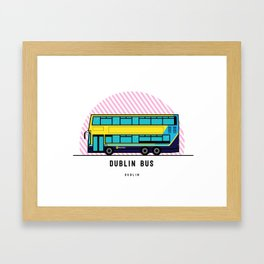 Dublin Bus Framed Art Print