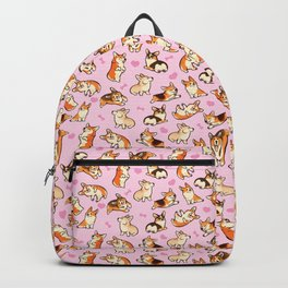Lovey corgis in pink Backpack