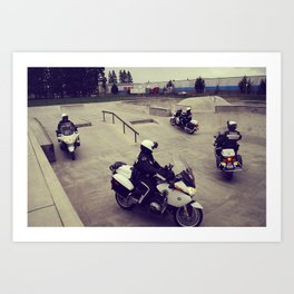 Cops' Day Out. Art Print
