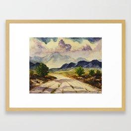 Desert Mountain Framed Art Print