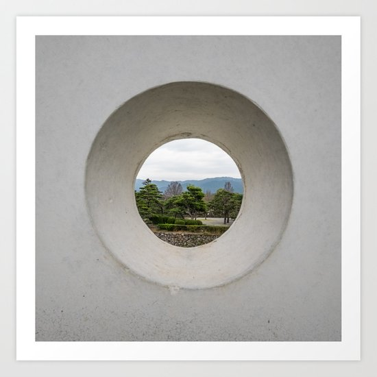 A view from a window, variation 2 Art Print
