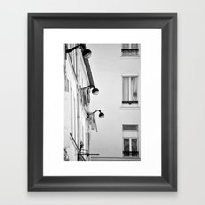 Paris, architecture and day to day life Framed Art Print