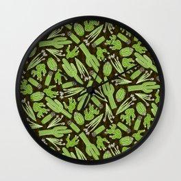 Sketchy Cacti Wall Clock