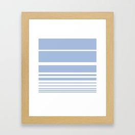 Scandi Pastel Cornflower Stripes Framed Art Print