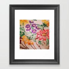 floral threads Framed Art Print