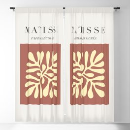 Henry Matisse - Cut Outs - Papiers Découpés, Mid Century Abstract Art Decor Blackout Curtain
