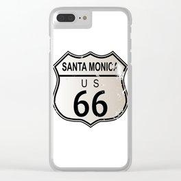 Santa Monica Route 66 Clear iPhone Case