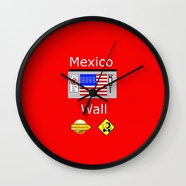 Mexico Wall Wall Clock