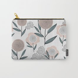Retro Floral Pattern 1 Carry-All Pouch