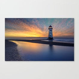 Sunset at Talacre Lighthouse Canvas Print