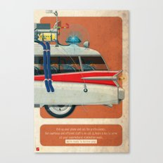Ecto-1 from Ghostbusters part III of III Canvas Print